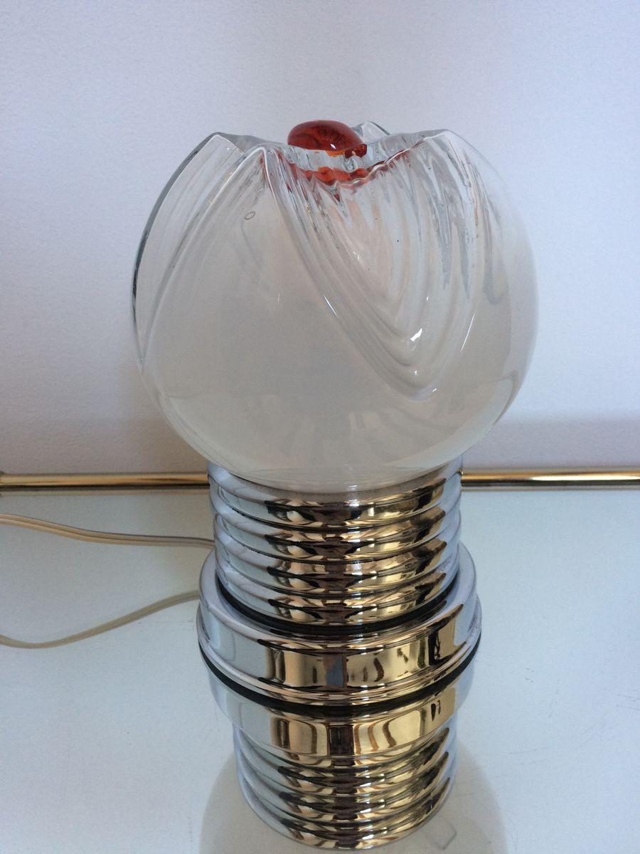 Space Age Murano Glas Tischlampe von Mazzega, 1960er