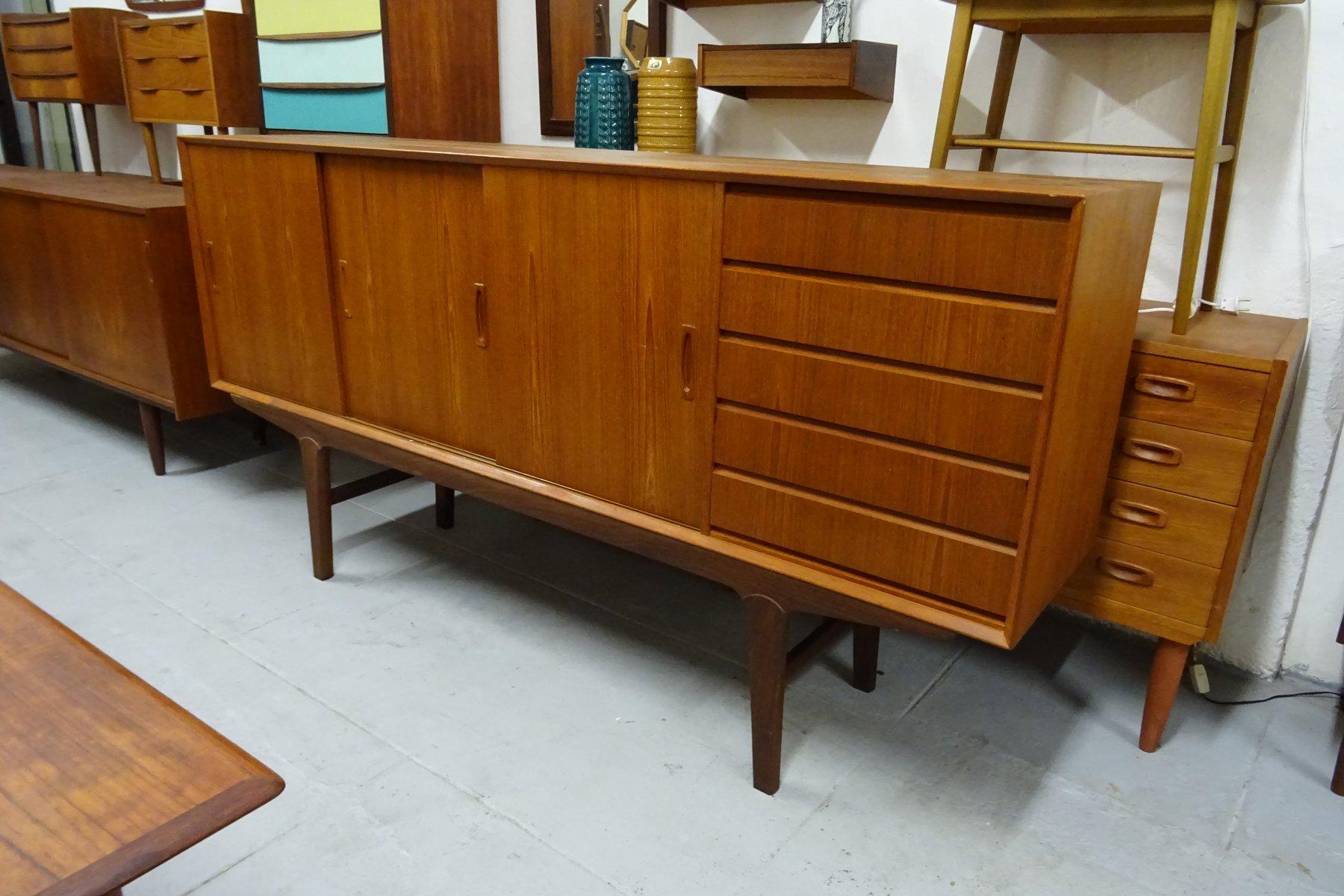 vintage sideboard mit schubladen aus teak bei pamono kaufen. Black Bedroom Furniture Sets. Home Design Ideas