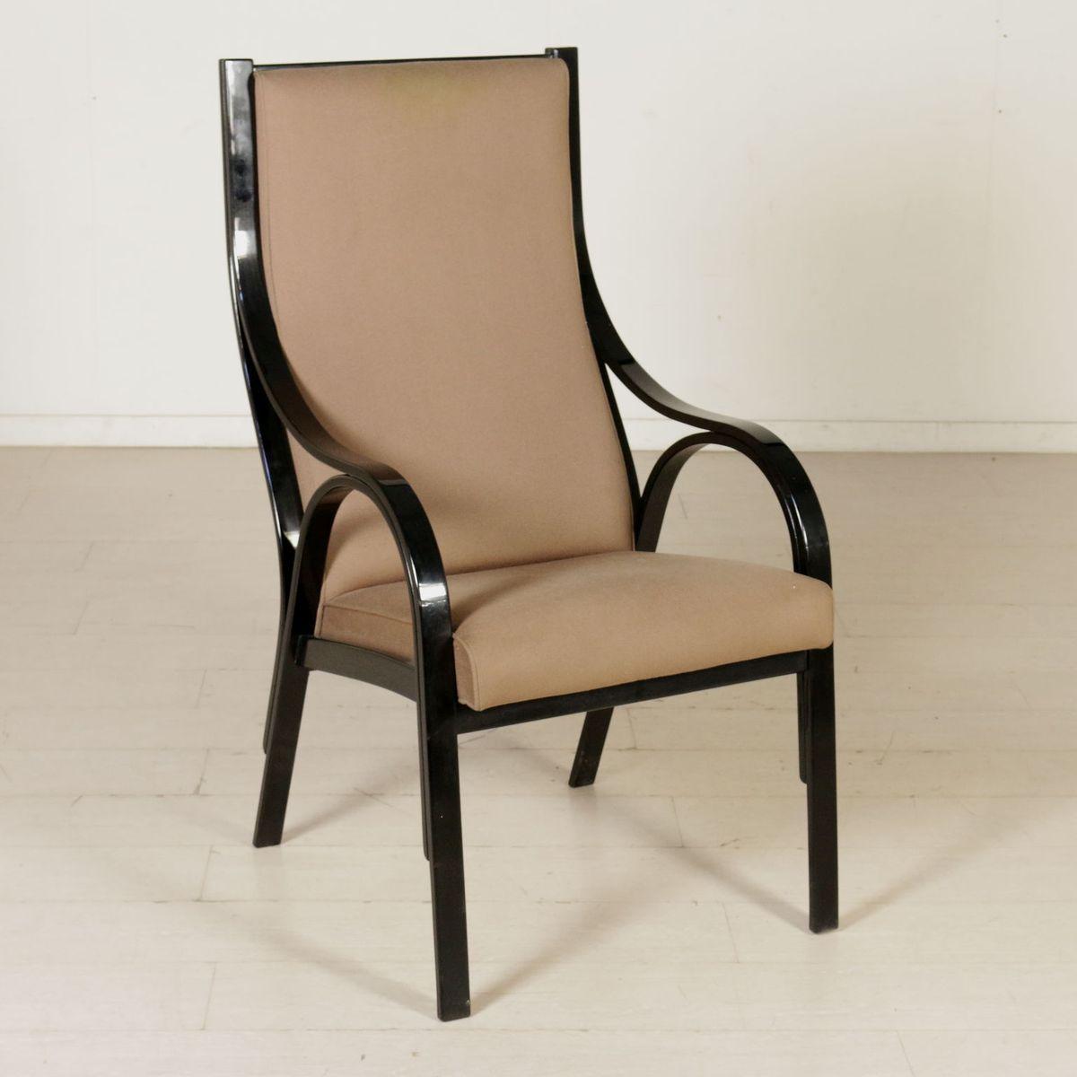 italienische cavour armlehnst hle von stoppino meneghetti gregotti f r sim 1980er 2er set. Black Bedroom Furniture Sets. Home Design Ideas