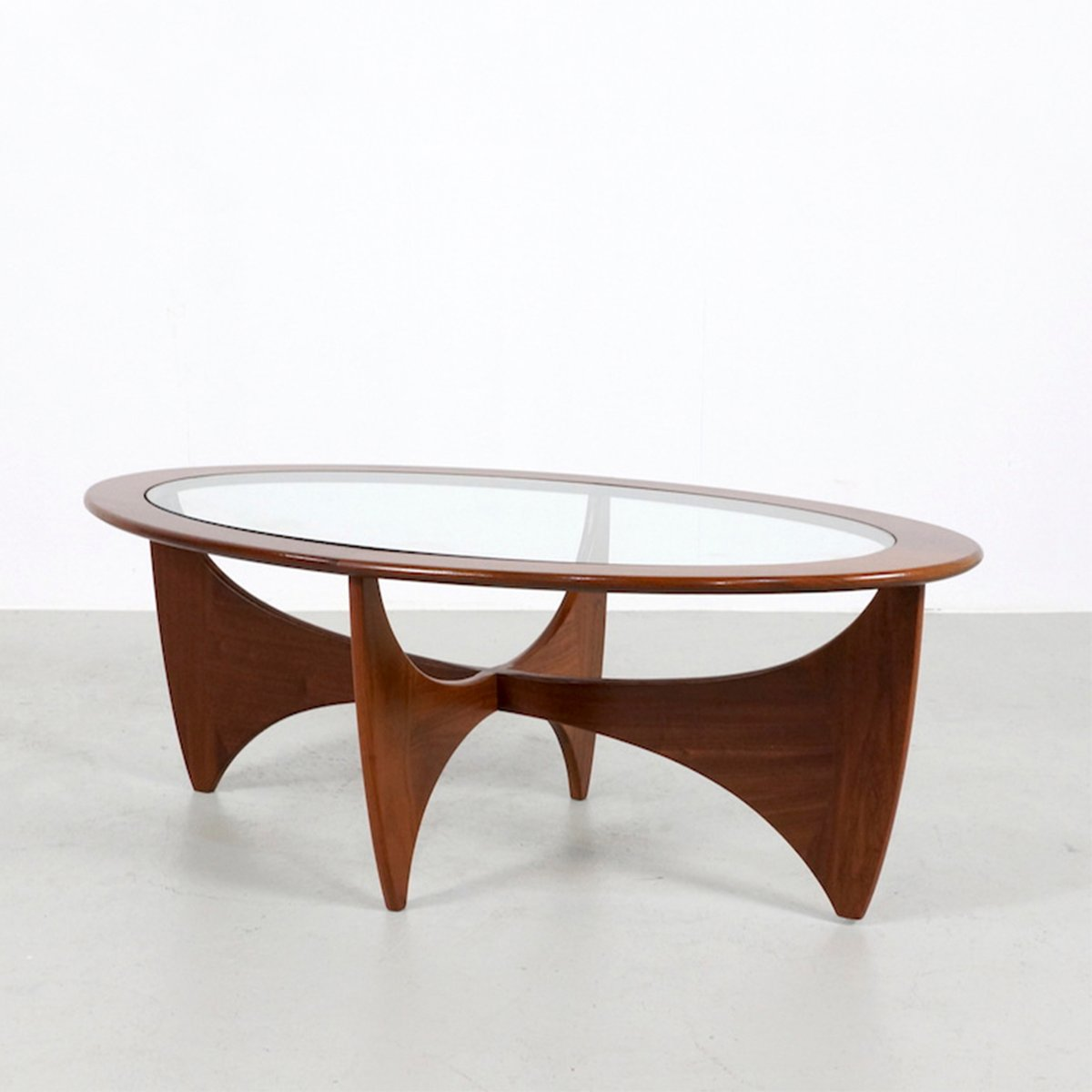 Oval Teak Astro Coffee Table By V. Wilkins For G-Plan