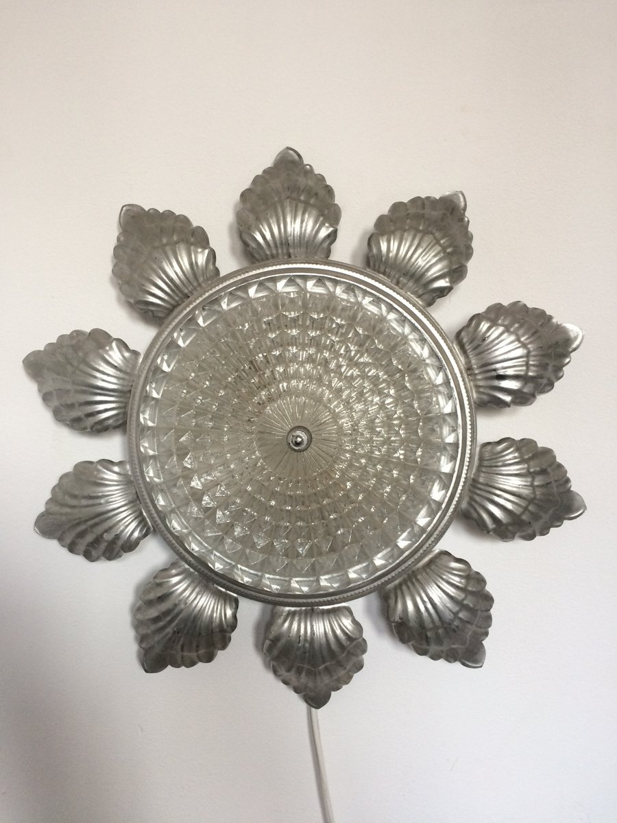 Vintage Sonnen Glas Wandlampe