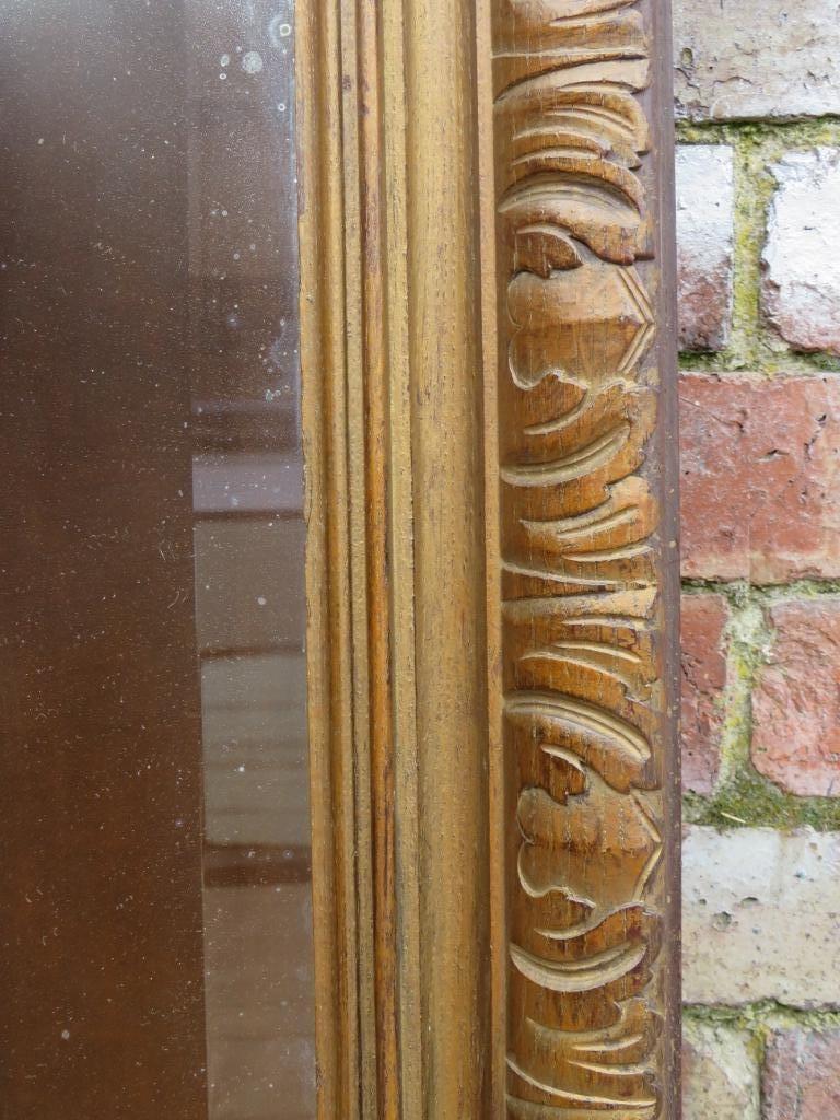Parete In Vetro E Legno : Specchio da parete antico in legno dorato e vetro