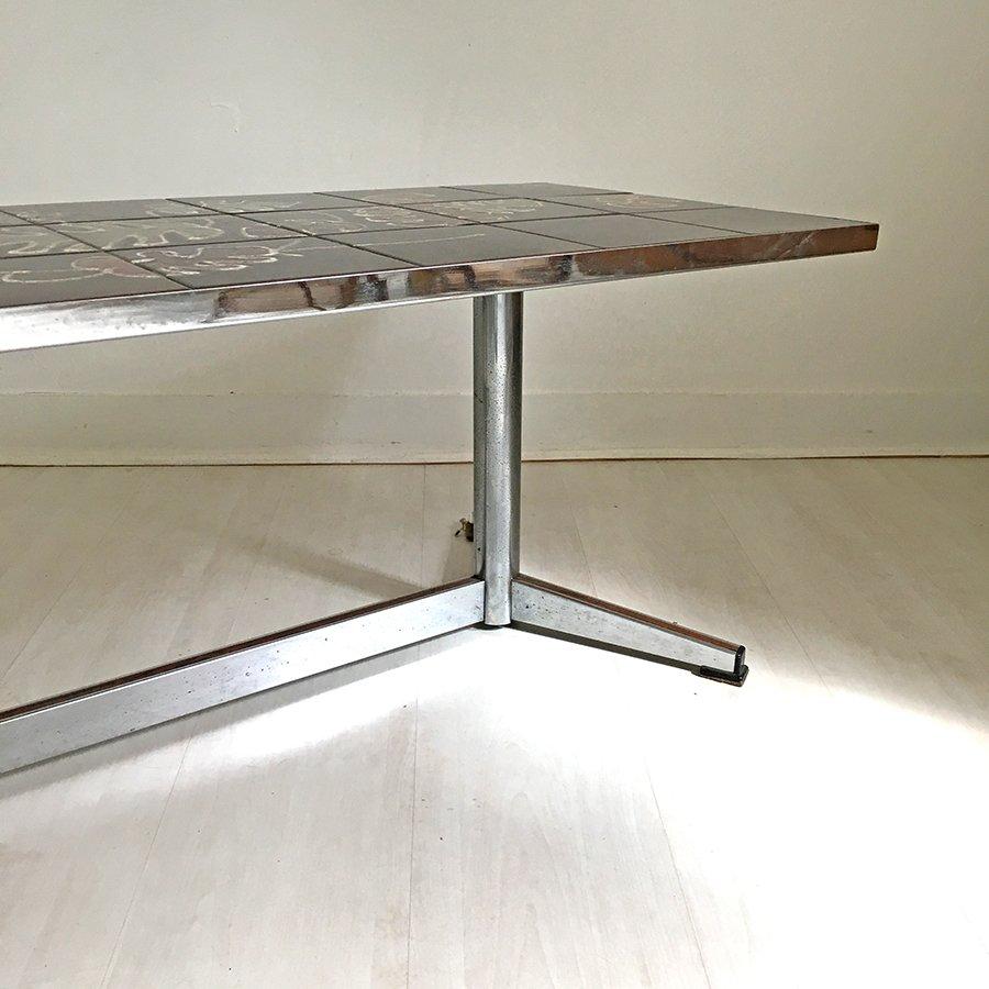 table basse vintage en c ramique 1970s en vente sur pamono. Black Bedroom Furniture Sets. Home Design Ideas