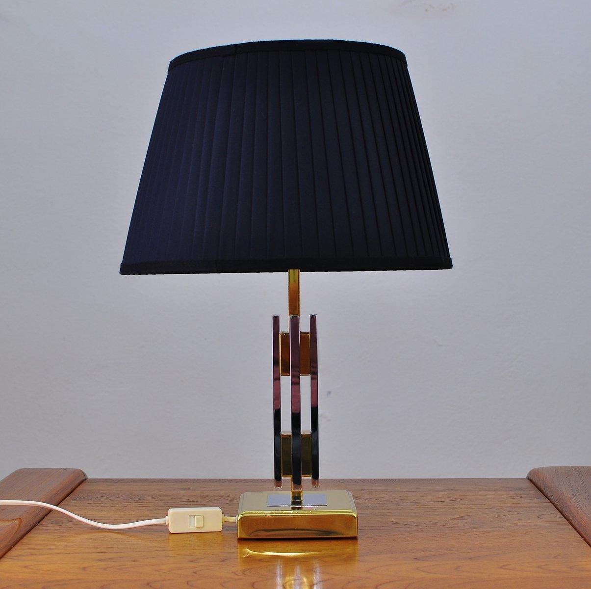 Messing & Chrom Tischlampe, 1970er