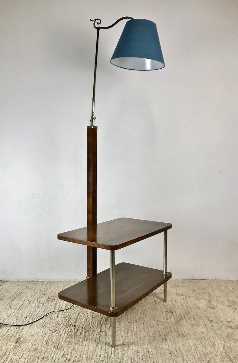 verstellbare vintage stehlampe mit ablage 1930er bei pamono kaufen. Black Bedroom Furniture Sets. Home Design Ideas