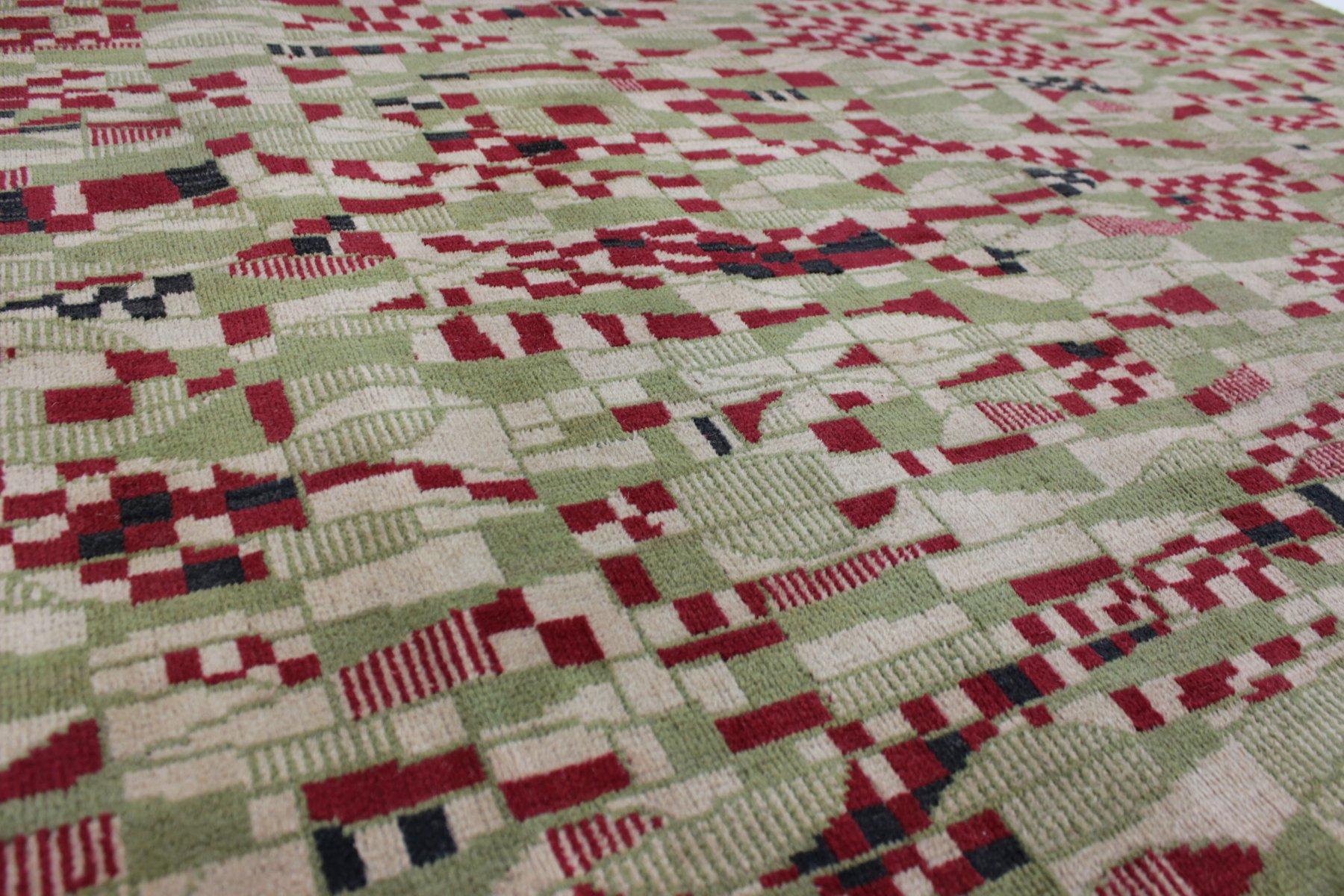tapis vintage motif g om trique 1950s en vente sur pamono. Black Bedroom Furniture Sets. Home Design Ideas