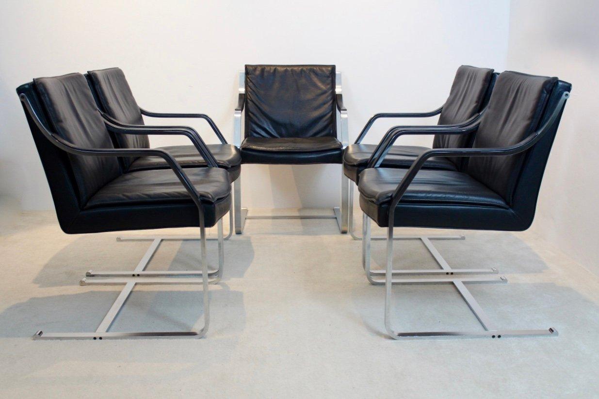 Vintage Art Collection Leder Stuhl Von Rudolf B. Glatzel Für Walter Knoll