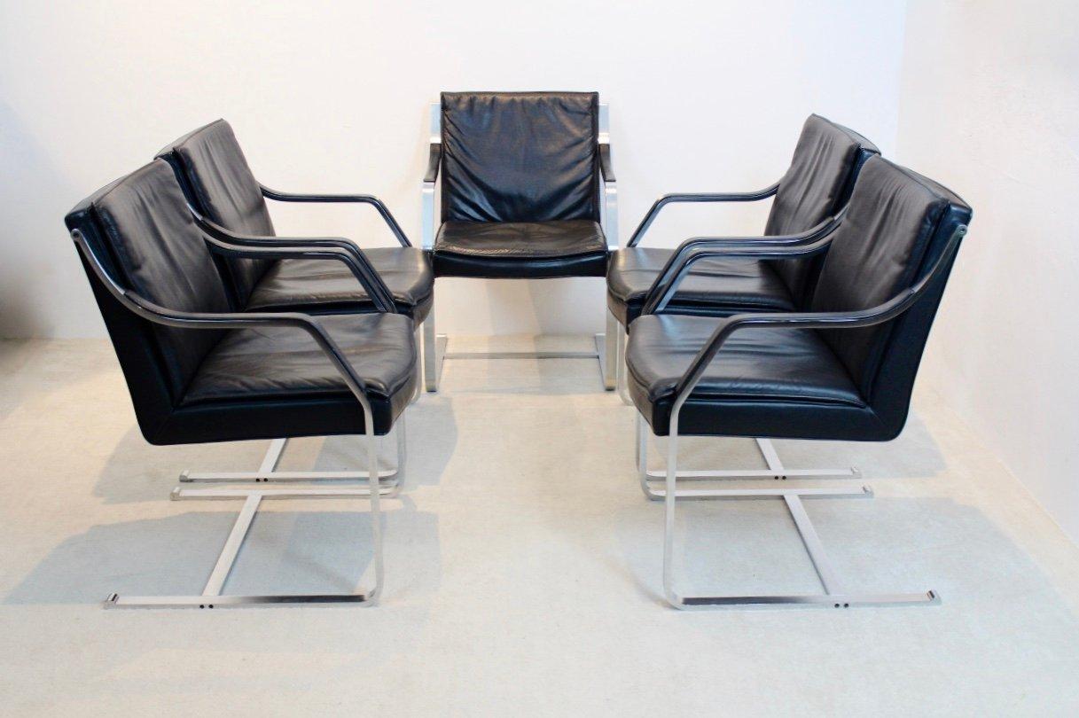 vintage art collection leder stuhl von rudolf b glatzel f r walter knoll bei pamono kaufen. Black Bedroom Furniture Sets. Home Design Ideas