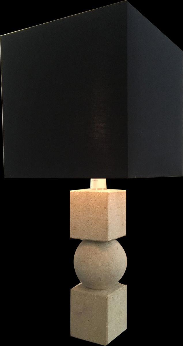 Brutalistische Steingut Lampe, 1970er