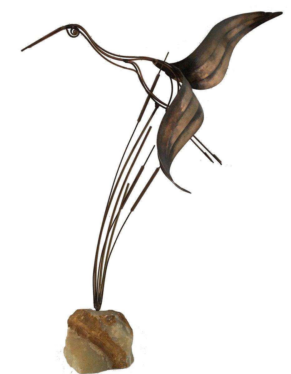 Vintage Vogel Skulptur von Curtis Jere