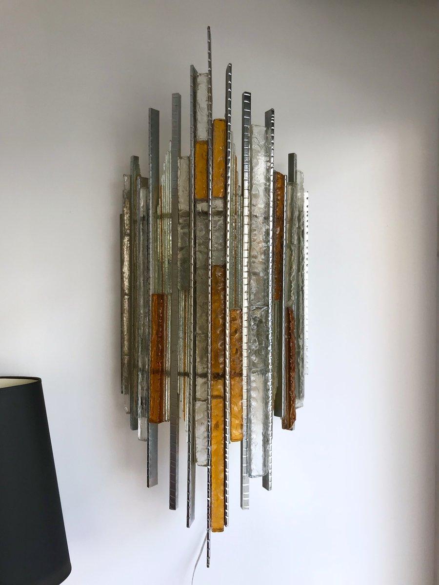 Italienische Wandleuchten aus Glas & Eisen von Biancardi und Jordan Ar...