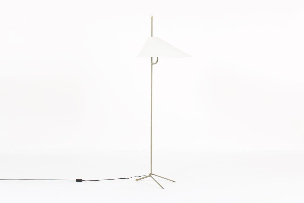 Metall & Messing Stehlampe, 1950er