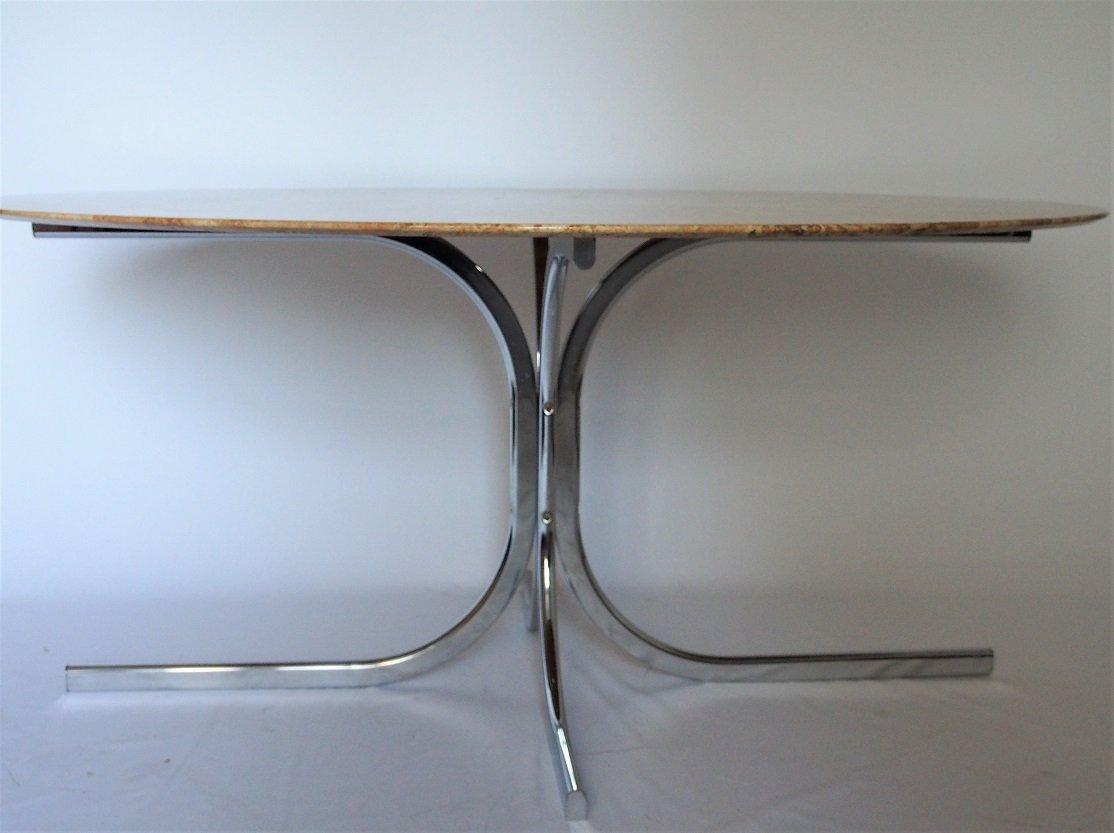 table de salle manger en marbre de roche bobois 1970s. Black Bedroom Furniture Sets. Home Design Ideas