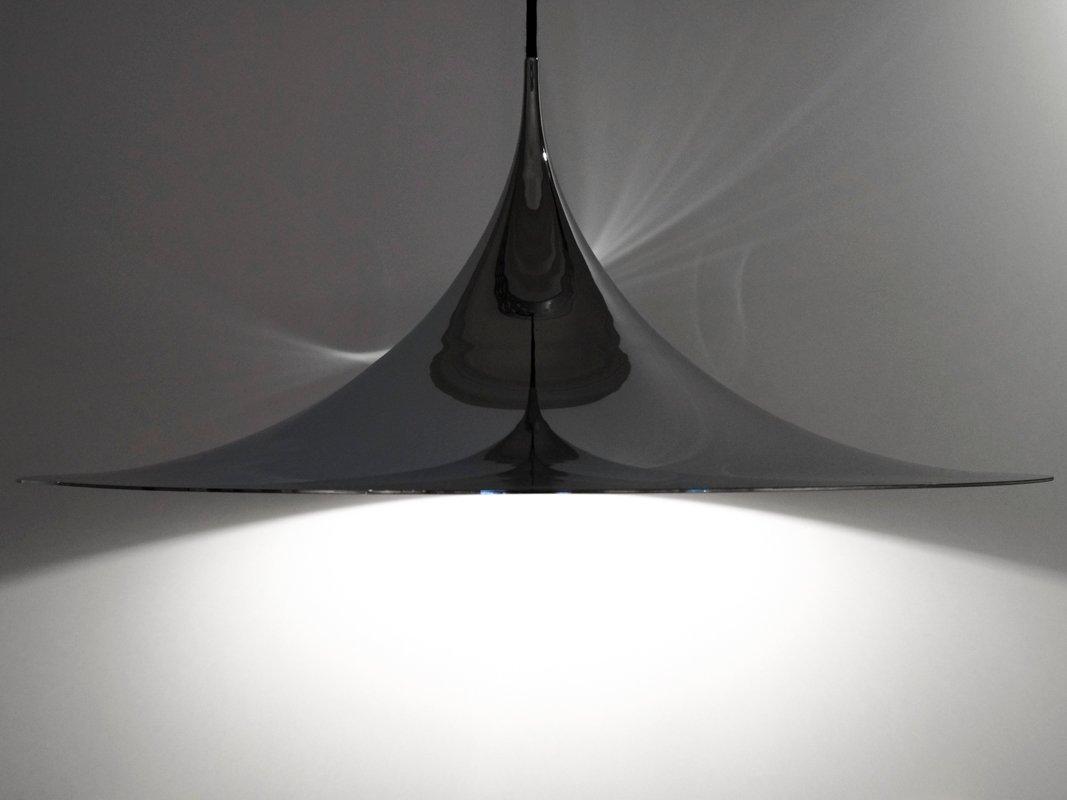 Große Vintage Semi Lampe von Thorup & Bonderup für Fog & Mørup
