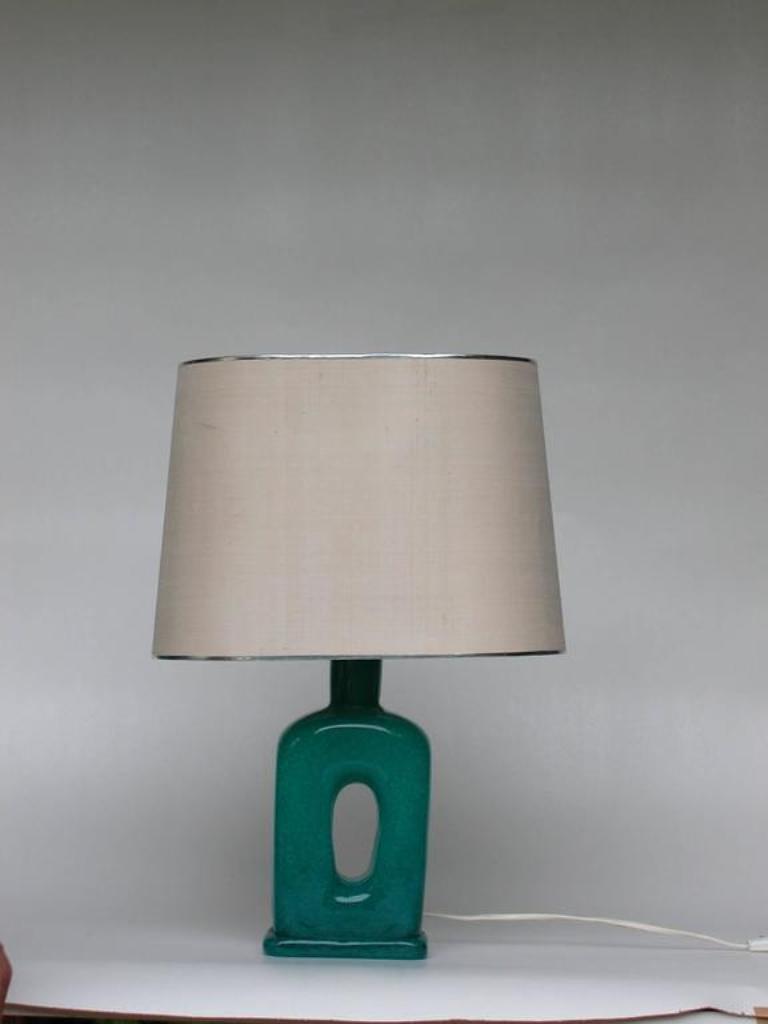 Vintage Murano Glas Eugenio Tischlampe von Barovier & Toso, 1950er