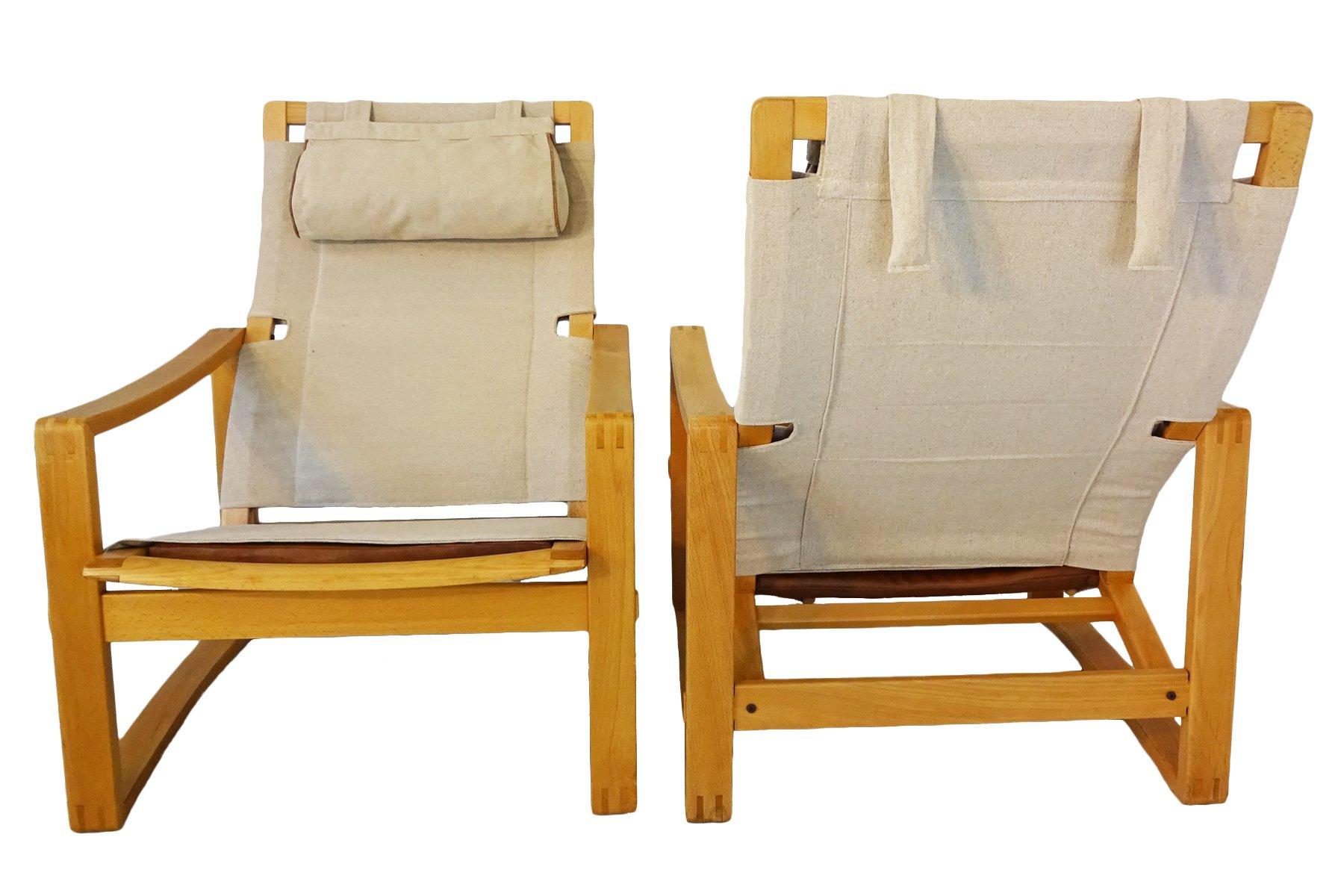 Dänische Mid-Century Safari Stühle von Børge Jensen & Sønner für Berns...