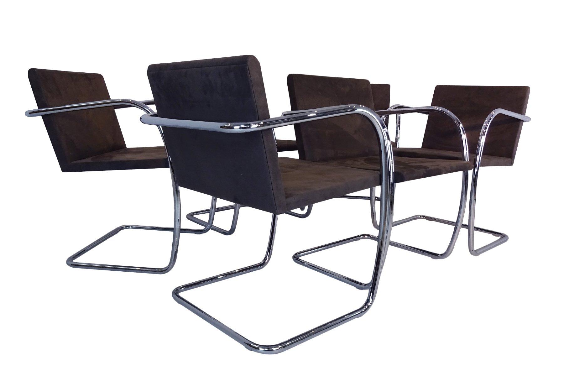 mr50 brno st hle aus stahlrohr wildleder von ludwig mies van der rohe f r knoll international. Black Bedroom Furniture Sets. Home Design Ideas