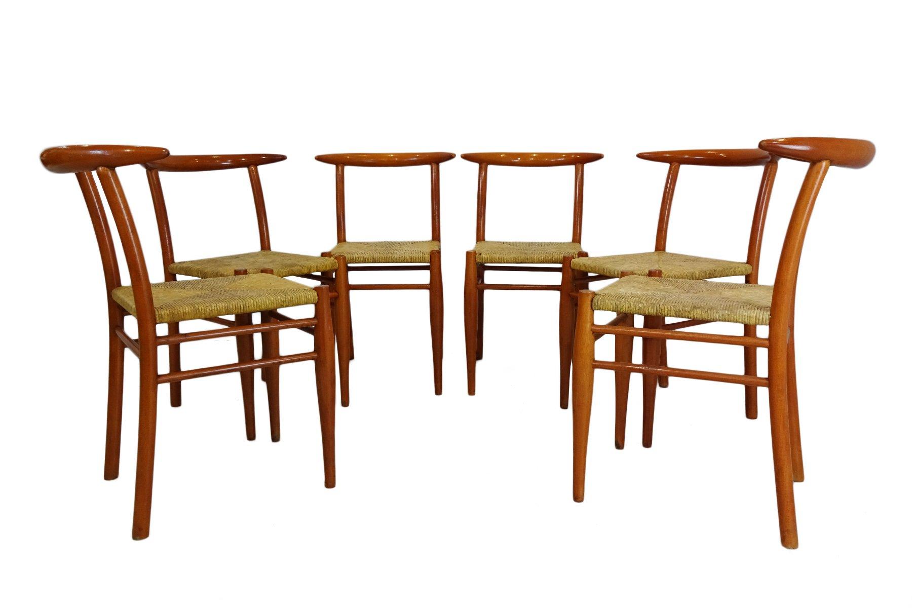 bullhorn st hle von philippe starck f r driade 1989 6er set bei pamono kaufen. Black Bedroom Furniture Sets. Home Design Ideas