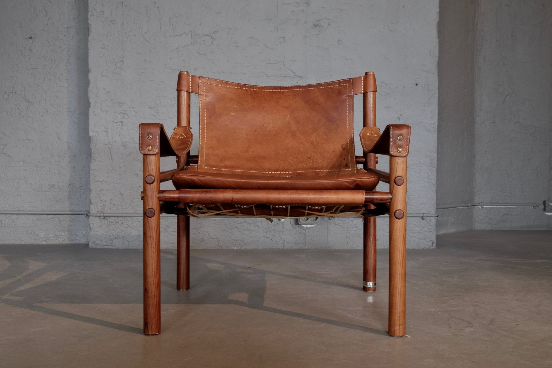 Merveilleux Vintage Sirocco Safari Chair By Arne Norell, 1960s