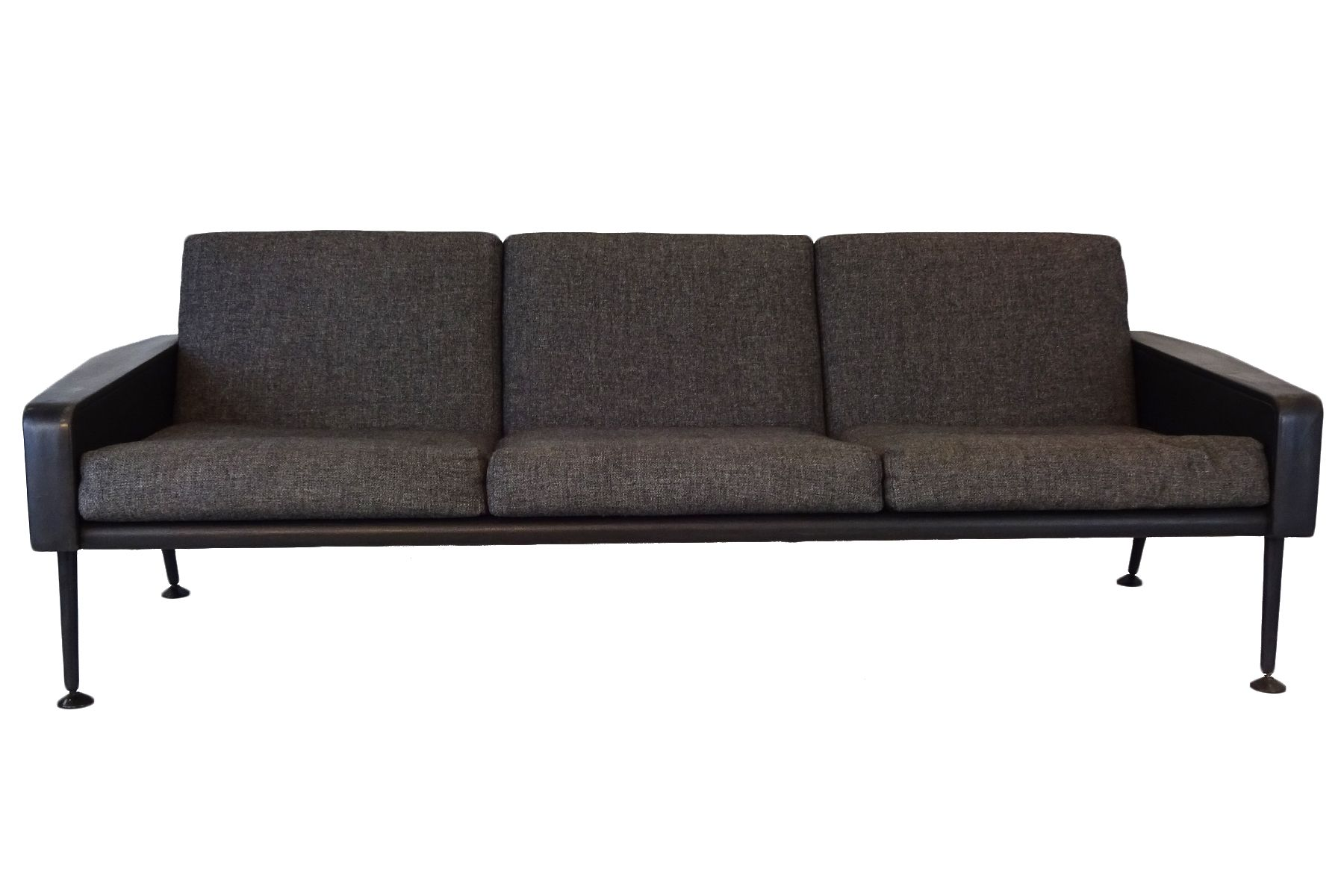 r57 3 sitzer sofa aus stoff leder von ernest race 1960er bei pamono kaufen. Black Bedroom Furniture Sets. Home Design Ideas