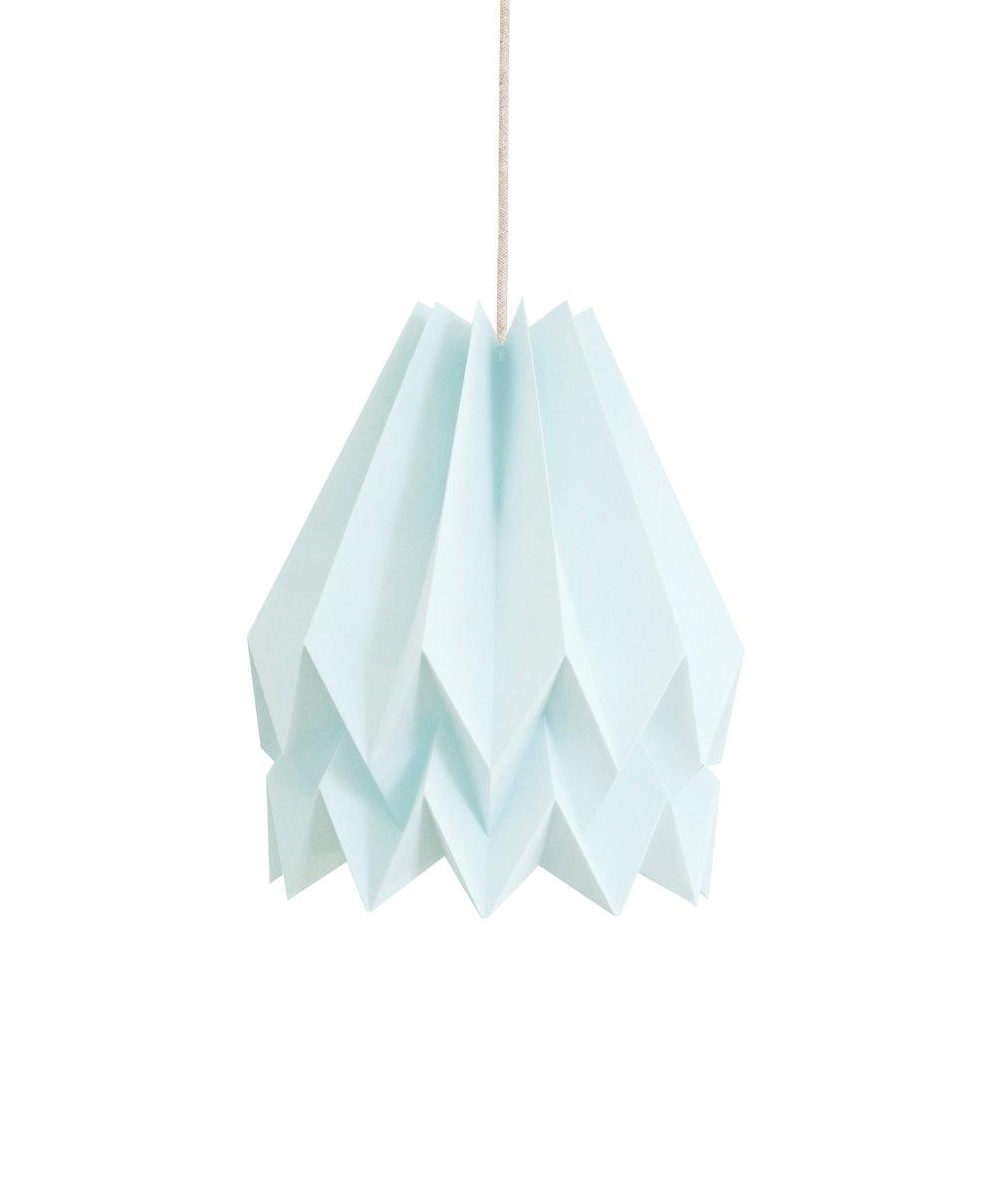 Origami Lampe in Mintblau von Orikomi