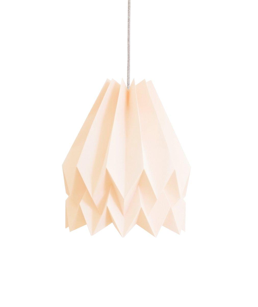 Pastellrosa Origami Lampe von Orikomi
