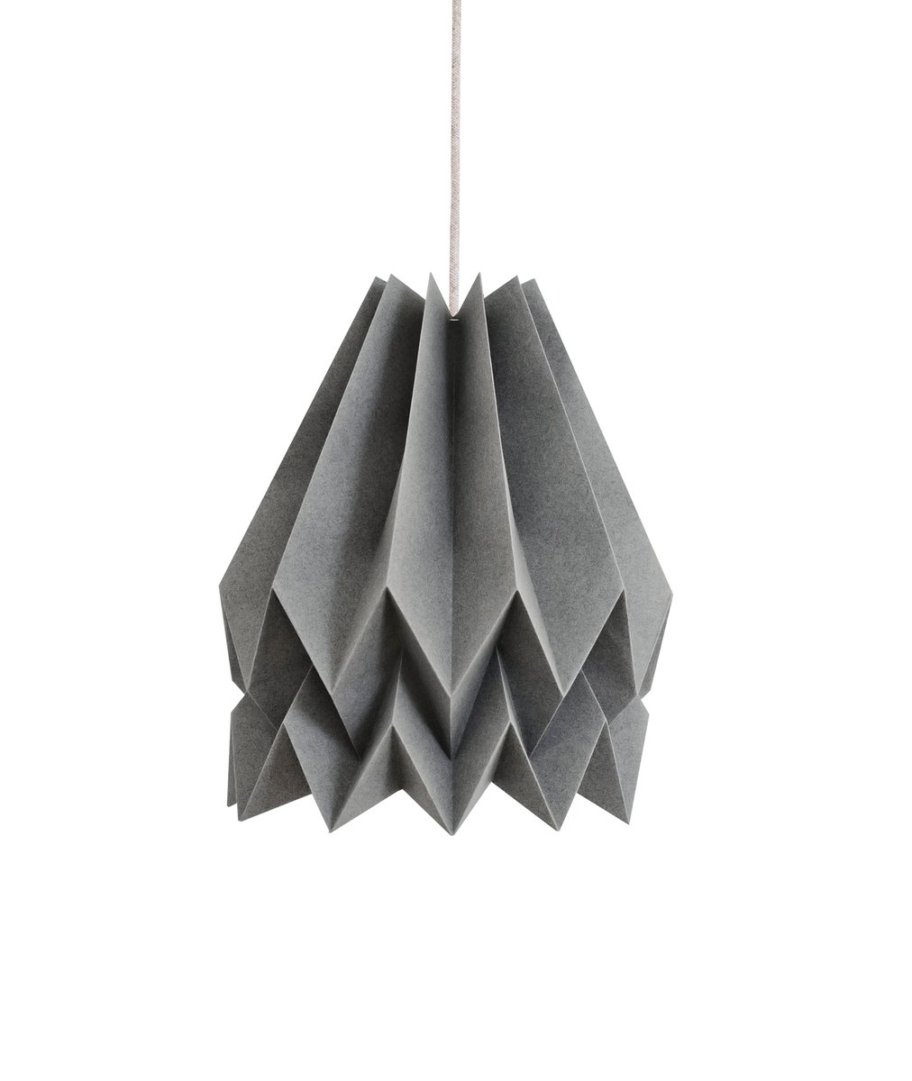 lampe origami gris alpin par orikomi en vente sur pamono. Black Bedroom Furniture Sets. Home Design Ideas