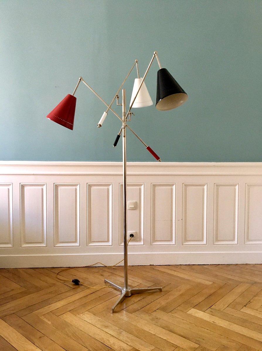Italienische Vintage Triennale Stehlampe, 1950er