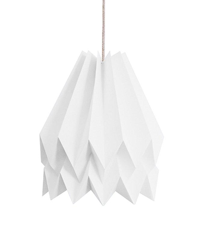 PLUS Plain polarweiße Origami Lampe von Orikomi