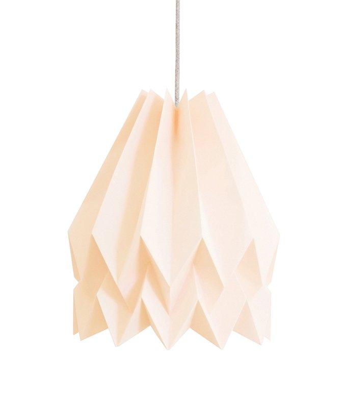 PLUS Plain rosa Origami Lampe von Orikomi