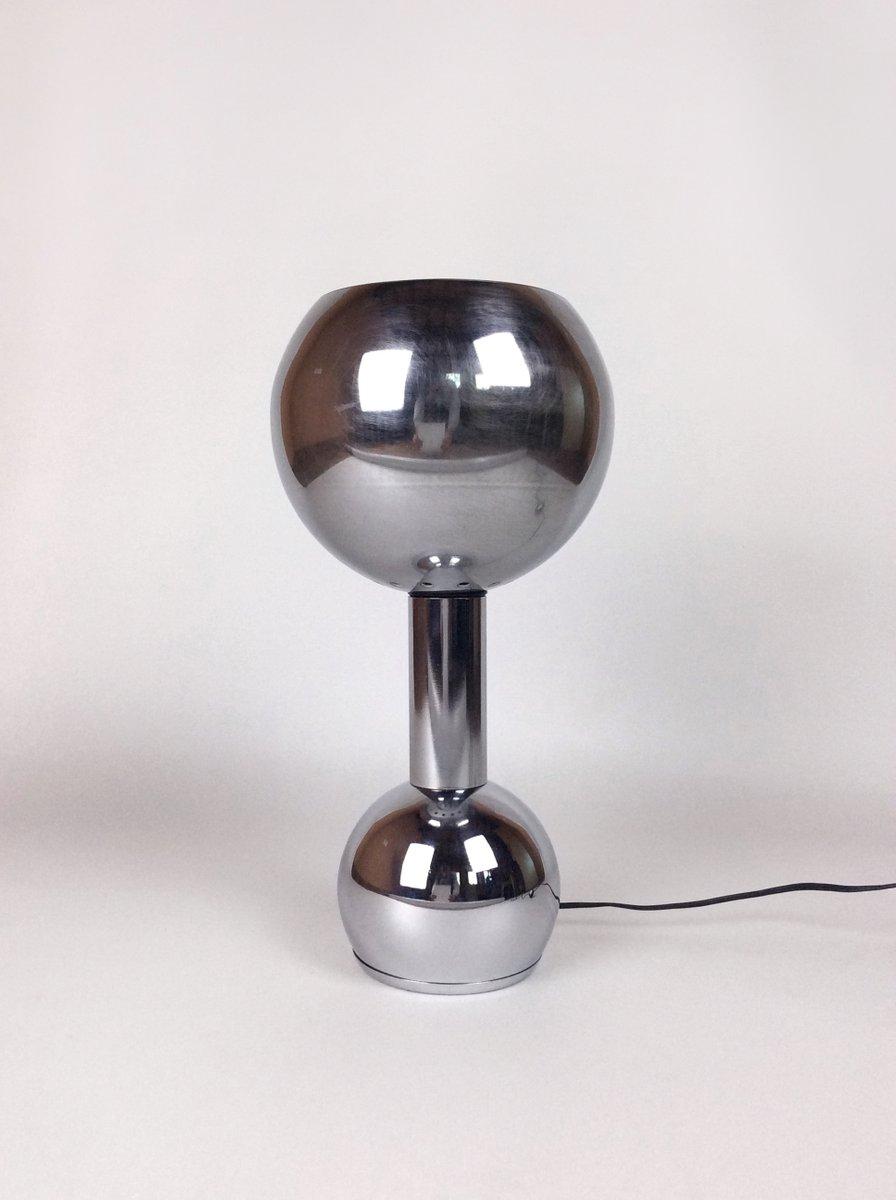 Tischlampe aus verchromtem Aluminium, 1970er