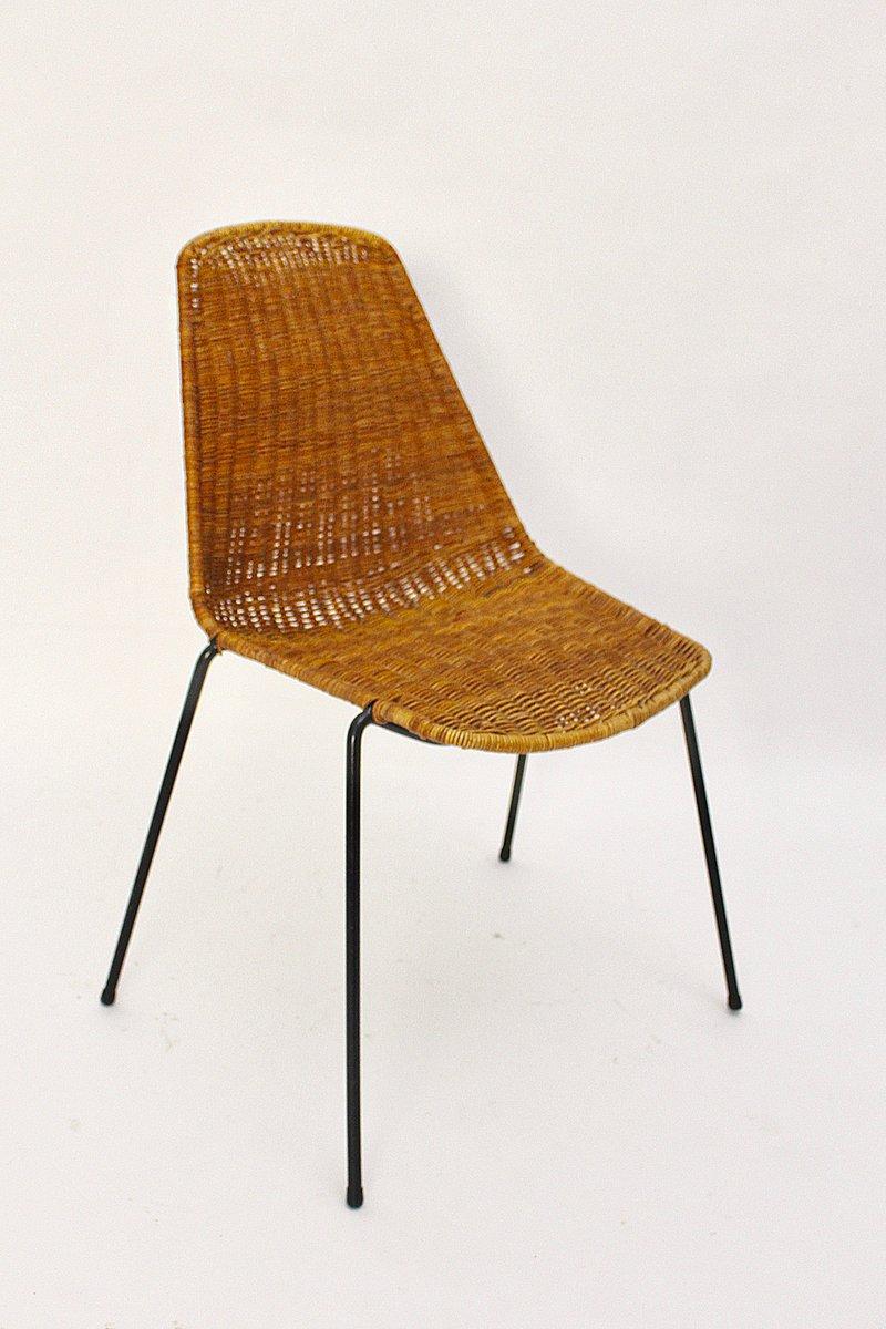 W MidCentury Modern Wicker Chair By Gian Franco Legler 1951