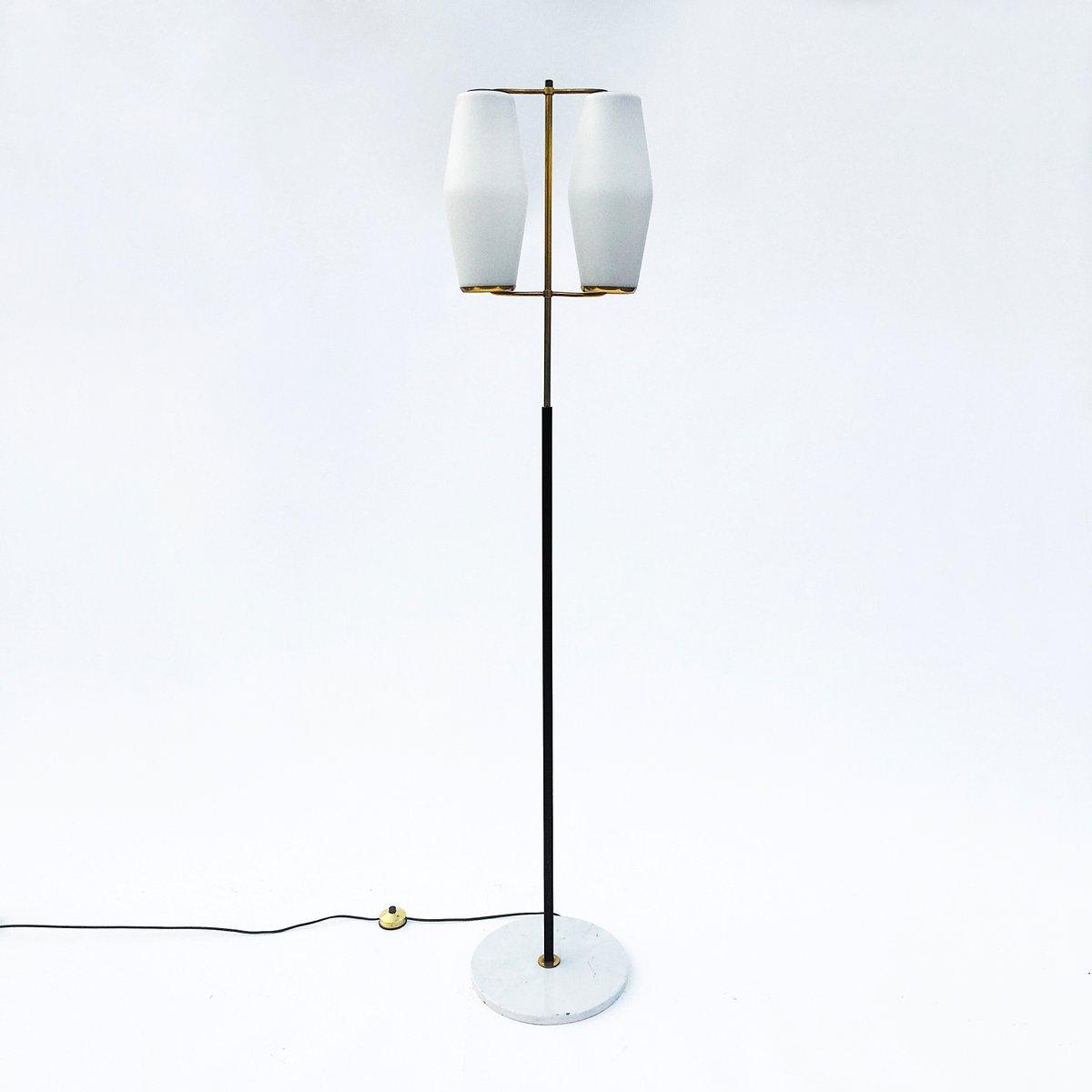 Stehlampe mit 2 Leuchten von Stilnovo, 1950er