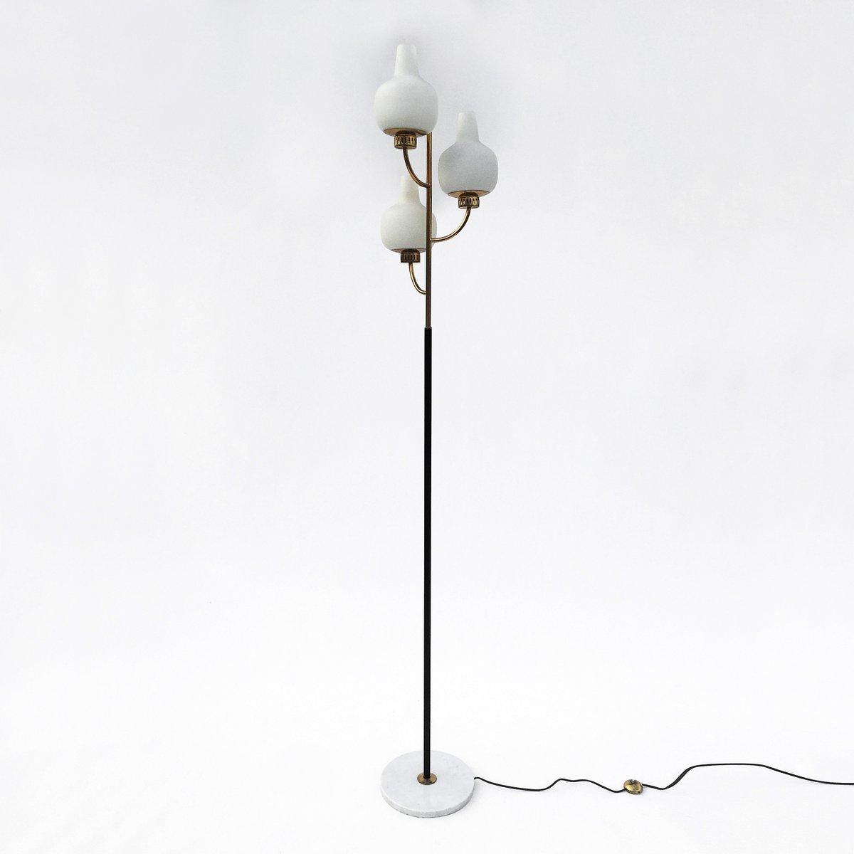 stehlampe mit 3 leuchten von stilnovo 1950er bei pamono kaufen. Black Bedroom Furniture Sets. Home Design Ideas