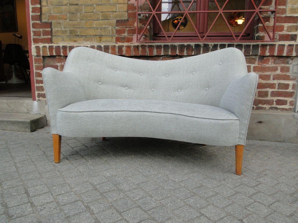 canap 2 places 185 de slagelse m belv rk 1950s en vente sur pamono. Black Bedroom Furniture Sets. Home Design Ideas