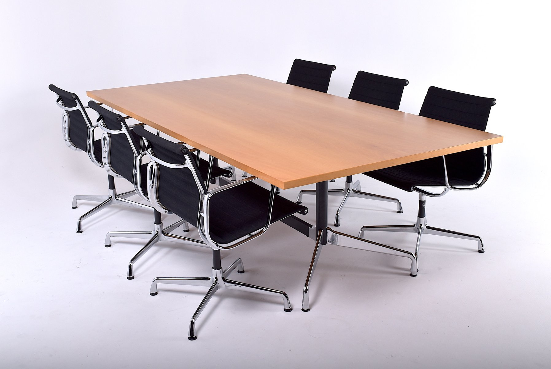 vintage large table by charles ray eames for vitra for sale at pamono. Black Bedroom Furniture Sets. Home Design Ideas