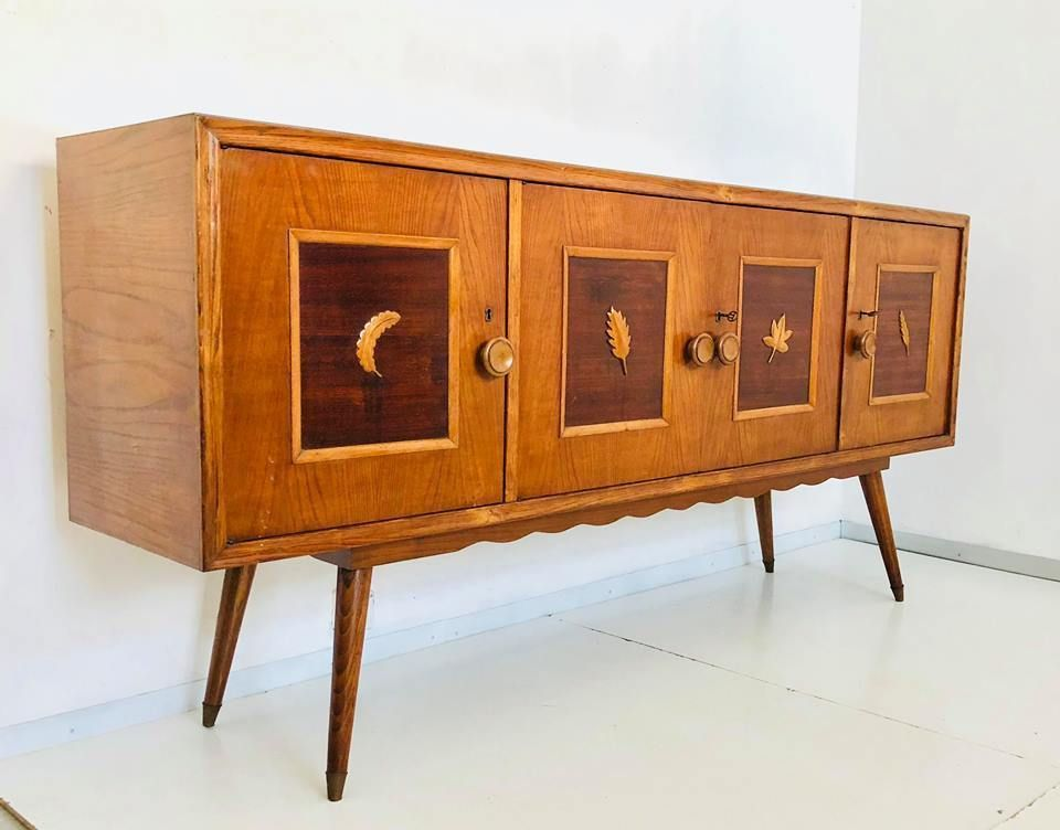 mid century italian sideboard 1950s for sale at pamono. Black Bedroom Furniture Sets. Home Design Ideas