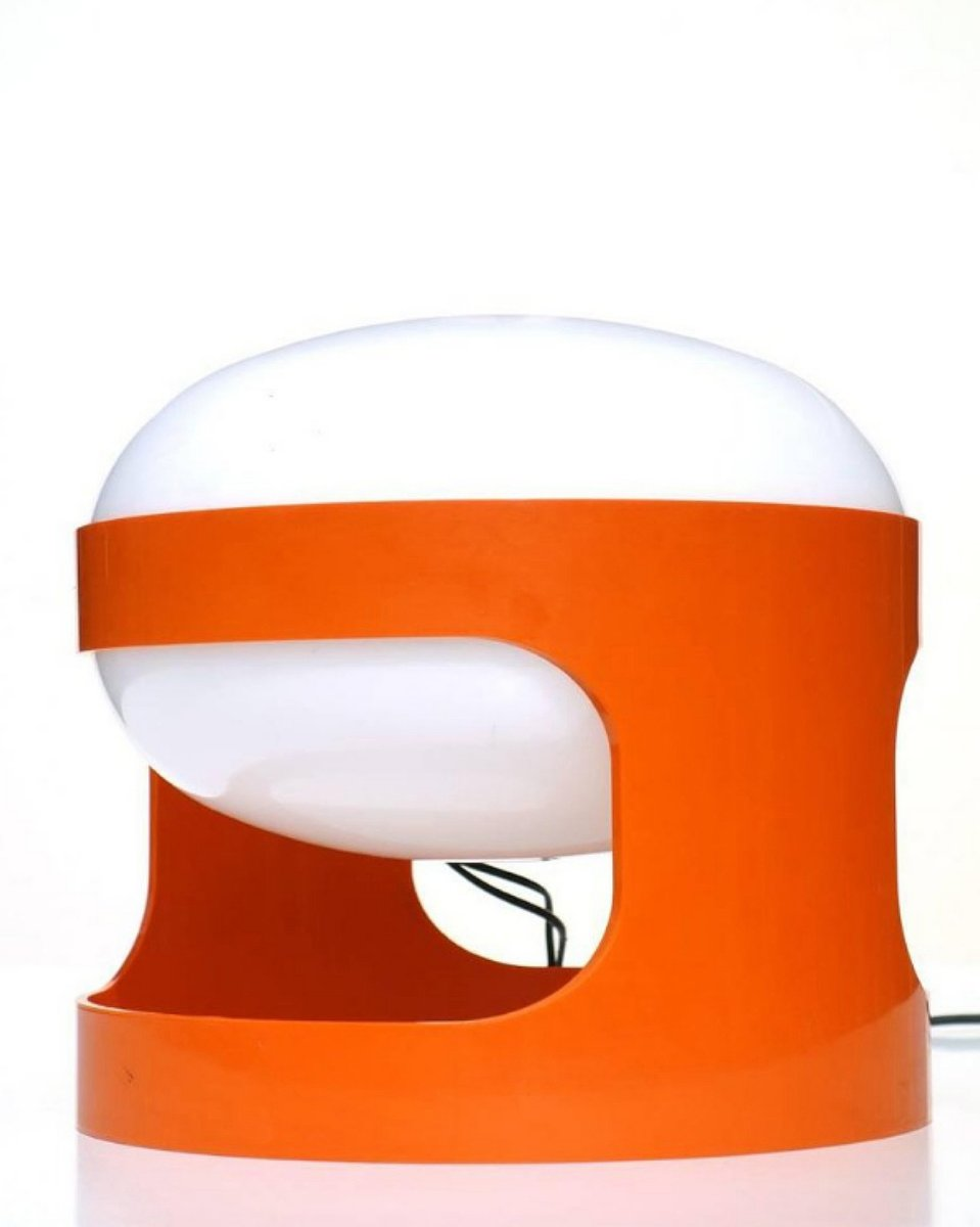 KD27 Orange Table Lamp by Joe Colombo for Kartell, 1960s ...