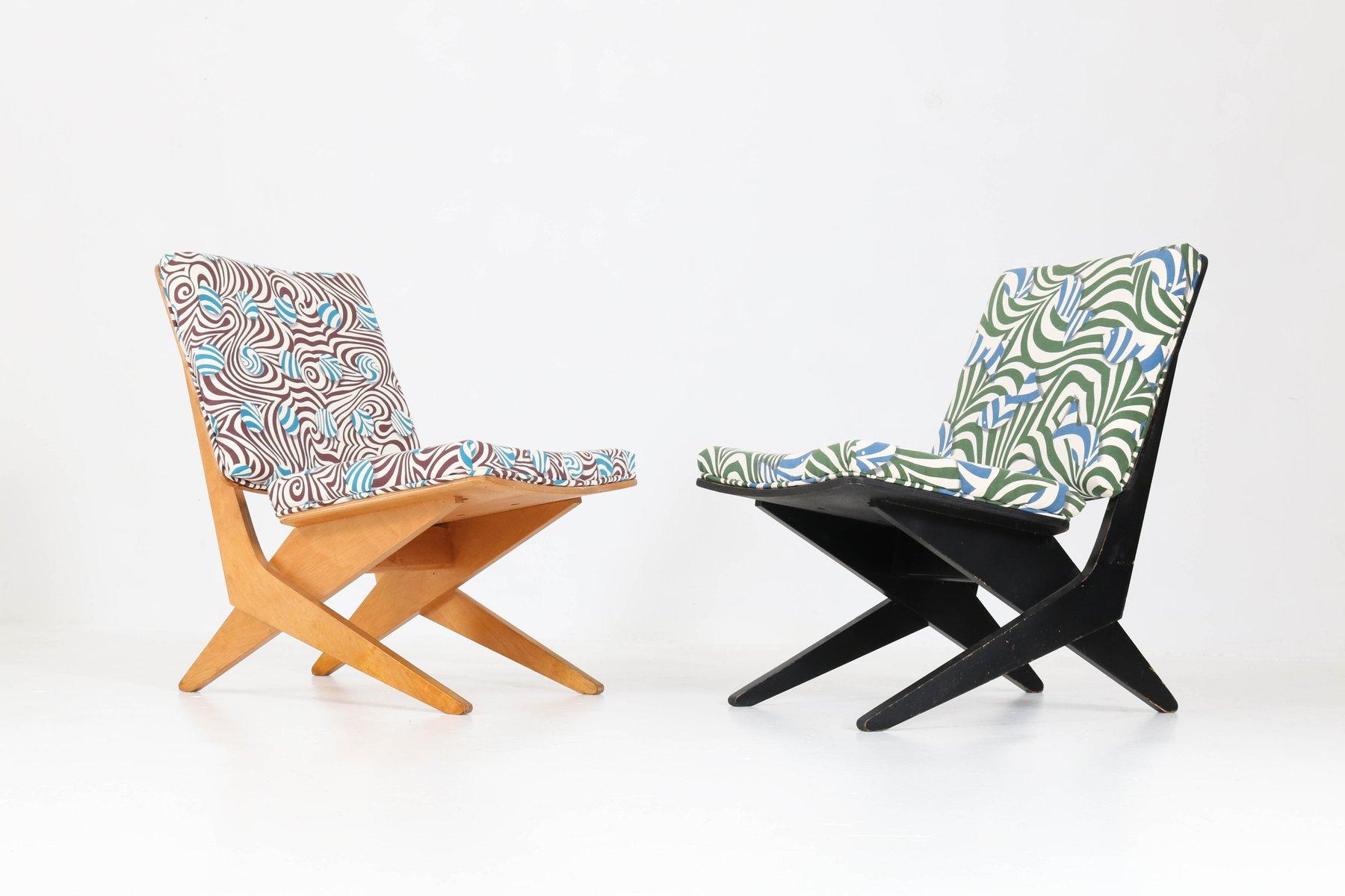 FB18 Scissor Stühle von Jan Van Grunsven für Pastoe, 1959, 2er Set
