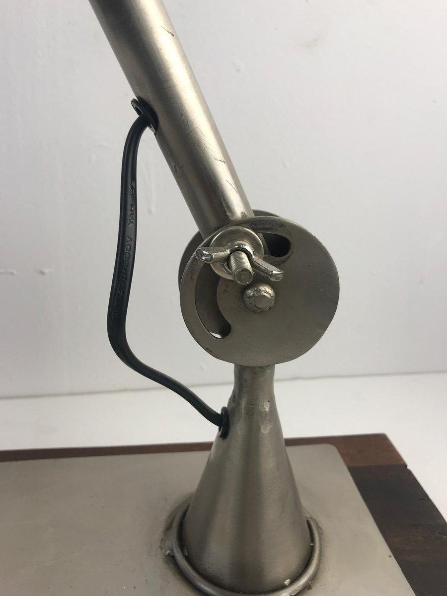 tischlampe mit holz sockel von the noble lighting company 1994 bei pamono kaufen. Black Bedroom Furniture Sets. Home Design Ideas