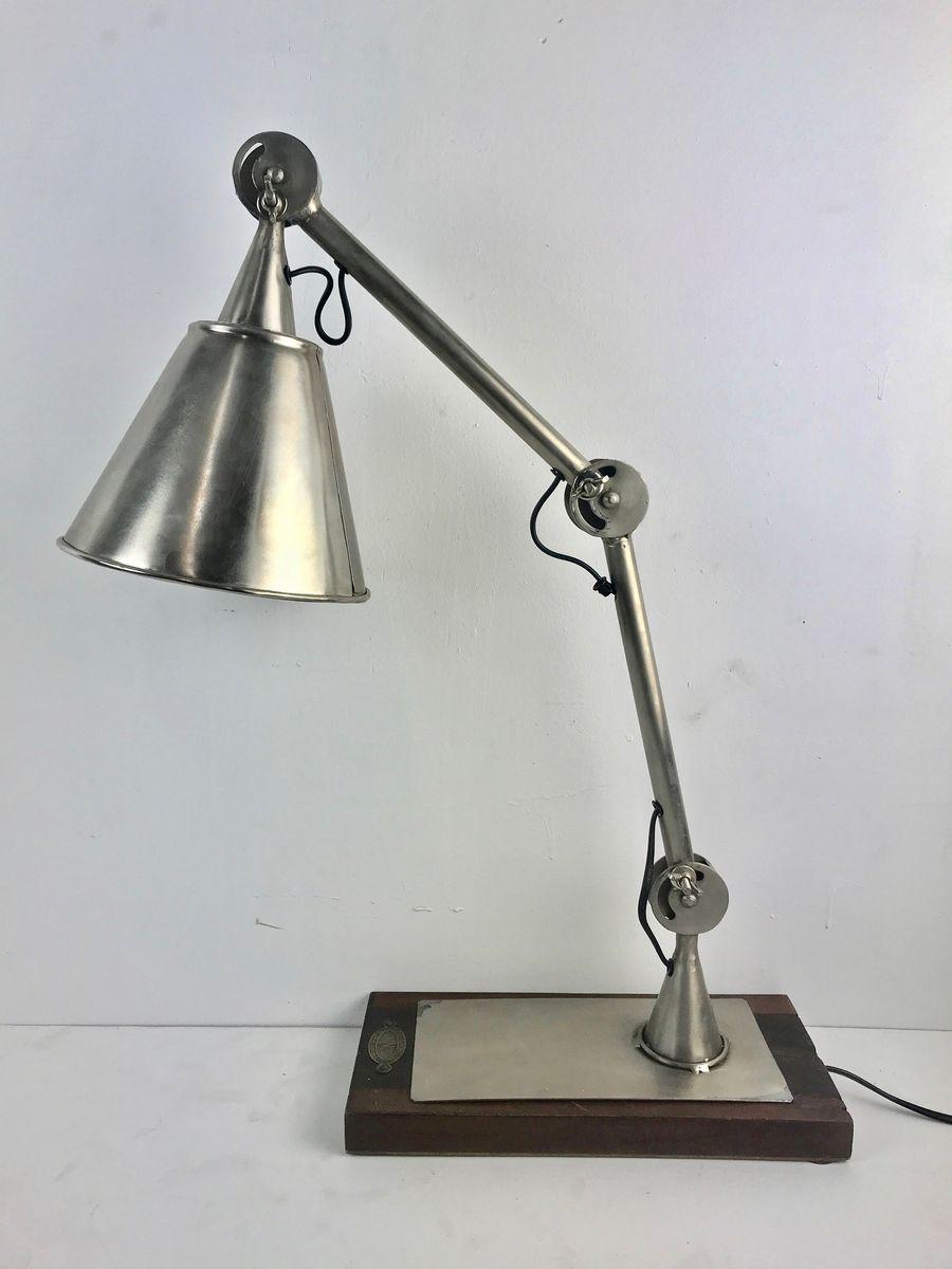 Tischlampe mit Holz Sockel von The Noble Lighting Company, 1994