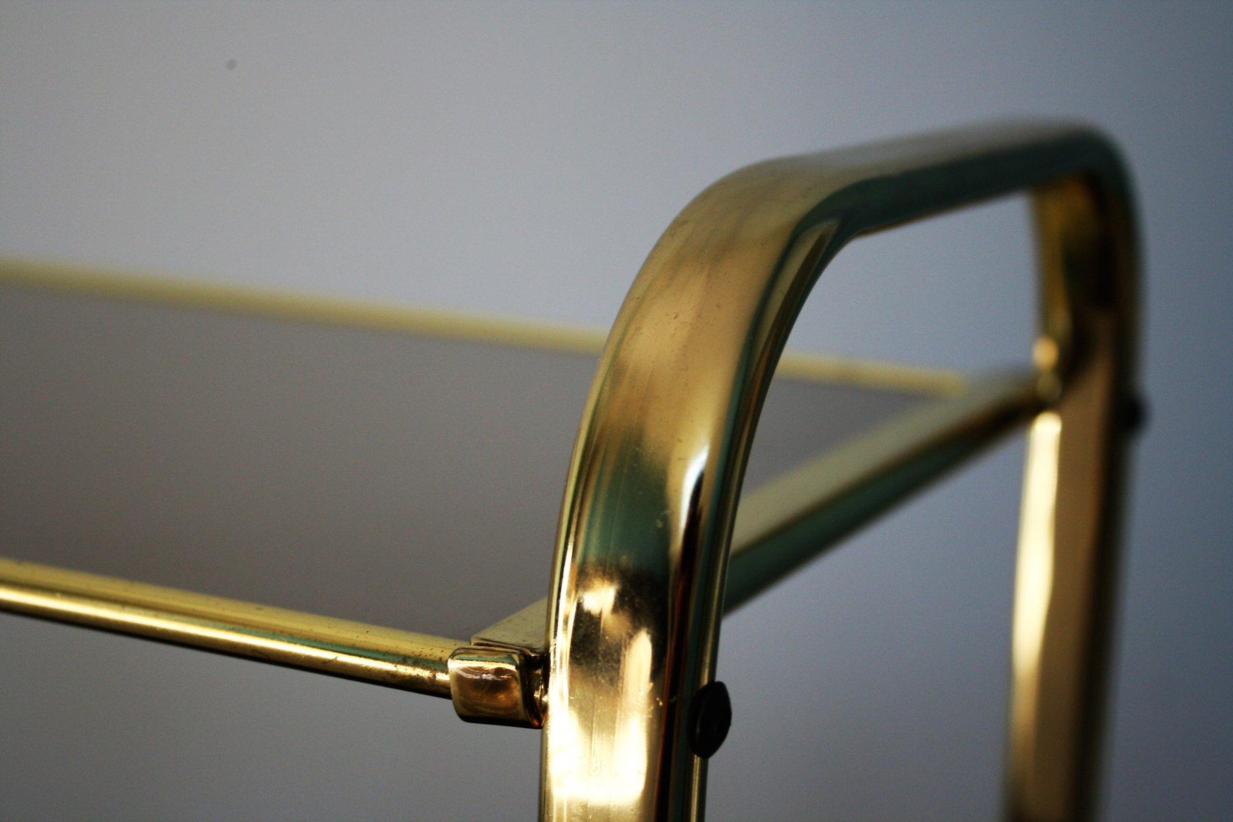 messing glas beistelltisch 1970er bei pamono kaufen. Black Bedroom Furniture Sets. Home Design Ideas