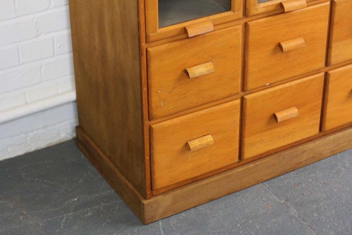 meuble de mercerie vintage en ch ne clair royaume uni 1940s en vente sur pamono. Black Bedroom Furniture Sets. Home Design Ideas
