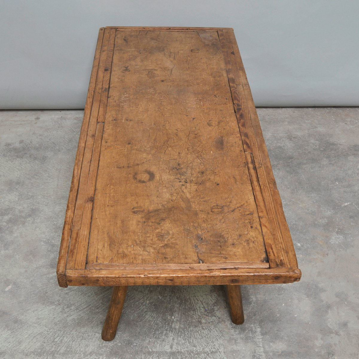 Vintage Oak Butcher S Block Coffee Table Or Bench 1930s 6 Price 618 00 Regular 738