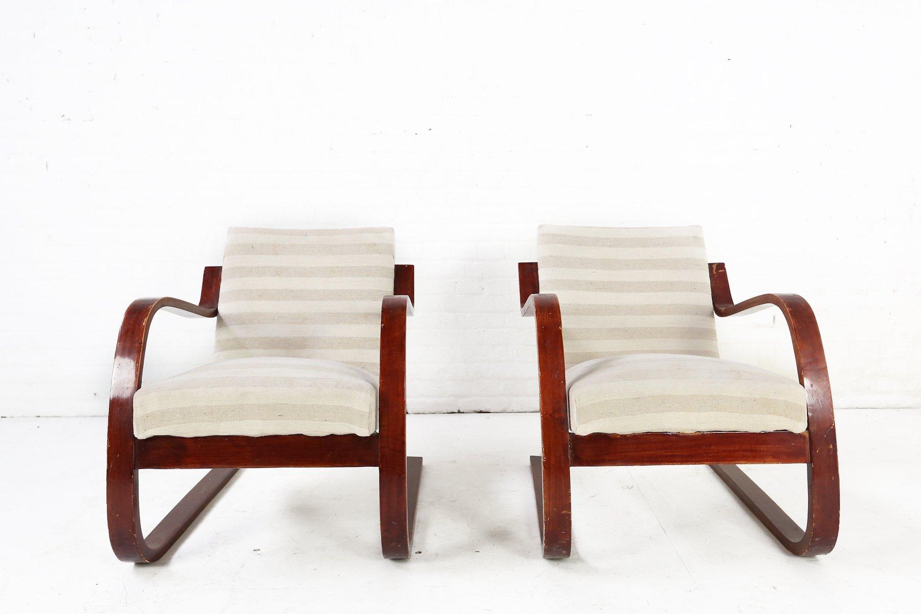 Modell 402 Stühle von Alvar Aalto für Finmar, 1930er, 2er Set