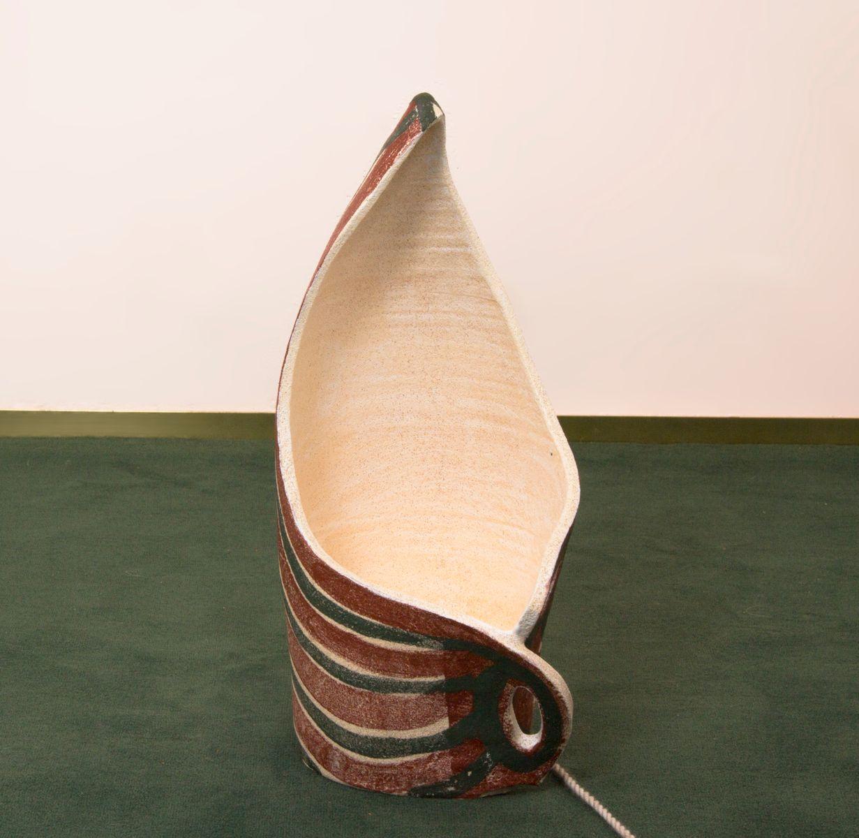 Vintage Stehlampe aus glasiertem Steingut