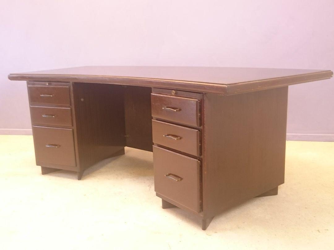 Grosser büro schreibtisch  Großer Büro Schreibtisch, 1950er bei Pamono kaufen