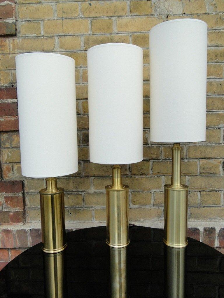 Anpassbare Vintage Messing Lampe von Gunnar Biilmann Petersen für Le K...