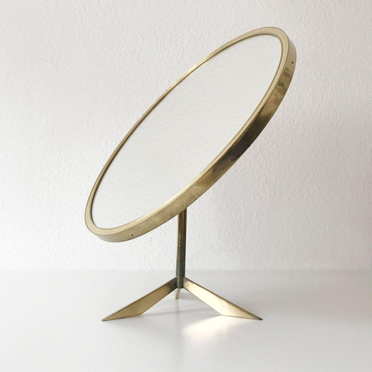 grand miroir poser mid century de vereinigte werkst tten 1950s en vente sur pamono. Black Bedroom Furniture Sets. Home Design Ideas