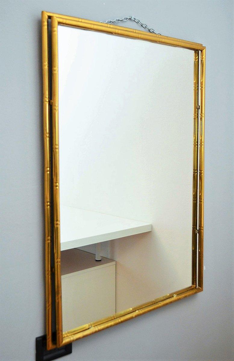 Specchio a muro in ottone italia anni 39 70 in vendita su for A specchio in inglese